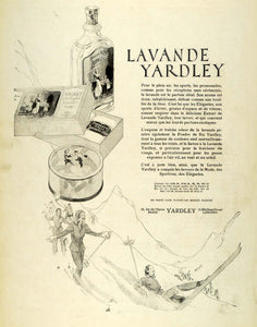 1931 Ad Yardley French Lavender Beauty Soap Woman Ski Snow Mountain Paris ILL5