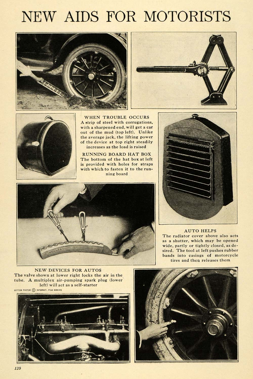 1920 Print Car Auto Help Motorists Steel Spark Plug Box ORIGINAL HISTORIC ILW2