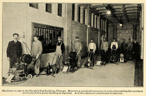 1917 Print Machines Workers People Gas Building Chicago ORIGINAL HISTORIC ILW2