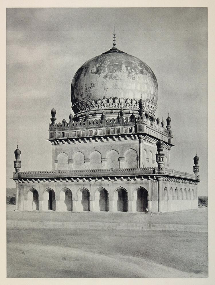 1928 Royal Tomb Qutb Shahi Golconda India Architecture - ORIGINAL IN1