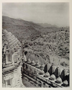 1928 Landscape View Achilgarh Temple Mount Abu India - ORIGINAL PHOTOGRAVURE IN1