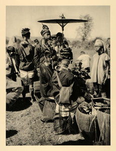 1929 Photogravure Kayan Lahwi Giraffe Women Padaung Long Neck Coils Rings Burma