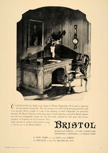 1930 Ad Bristol Furniture Antiques Chippendale Desk - ORIGINAL ADVERTISING INS1
