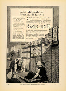 1920 Ad Whitaker Paper Co. Basic Lines Bond Supplies - ORIGINAL ADVERTISING IPR1
