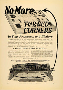 1920 Ad Wm A Field Co. Printers Electrotypers Machines - ORIGINAL IPR1