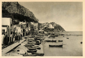 1927 Capri Italy Island Marina Grande Boats Buildings - ORIGINAL IT3
