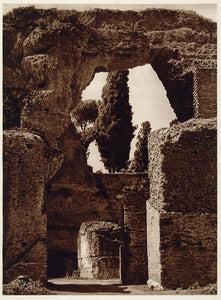 1925 Photogravure Stadium Stadio Palatine Hill Rome Ancient Roman Architecture