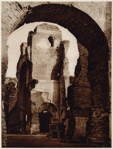 1925 Photogravure Caracalla Roman Public Baths Thermae Terme Ancient Rome Italy