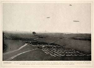 1913 Print Tempelhof Imperial German Empire Army Military Troops Parade Field