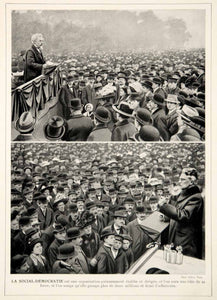1913 Print August Bebel Wilhelm Liebknecht Social Democratic Party Rally Germany
