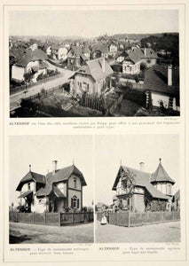 1913 Print Altenhof Essen Germany Friedrich Krupp AG Worker Housing Houses Homes