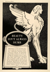 1936 Ad Vintage Mimeograph Machine A. B. Dick Sphinx - ORIGINAL ADVERTISING LD1