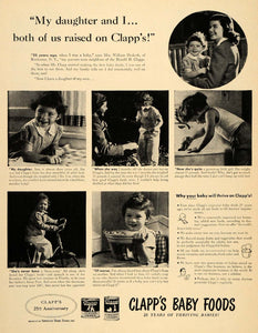 1946 Ad Clapps Baby Food Junior Strained Harold Infant - ORIGINAL LF3