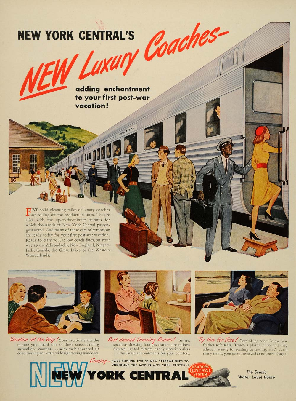 1939 Ad New York Central System Coaches Train Station - ORIGINAL ADVERTISING LF3