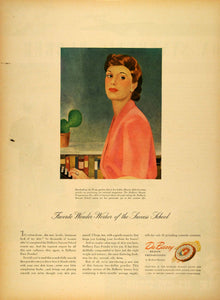 1943 Ad DuBarry Beauty Preparations Marion Aldrich Face Powder Cosmetics LF4