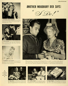 1943 Ad Woodbury Soap Facial Cleansing Frothingham-Navarro Nuptial Wedding LF4