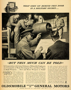 1943 Ad Oldsmobile General Motors WWII Army Military Weaponry War Production LF4