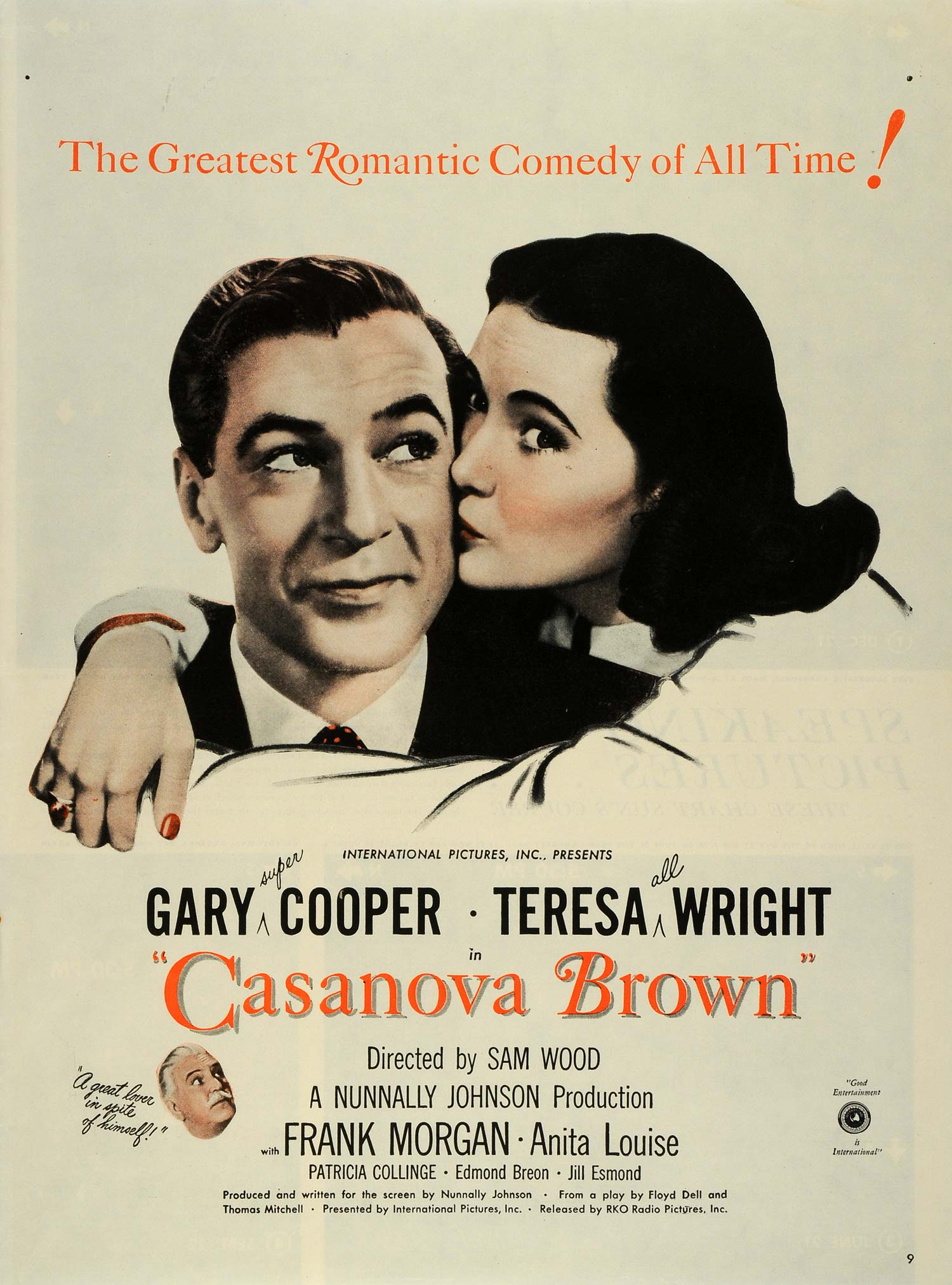 1944 Ad Film Casanova Brown International Pictures Gary Cooper Teresa Wright LF4