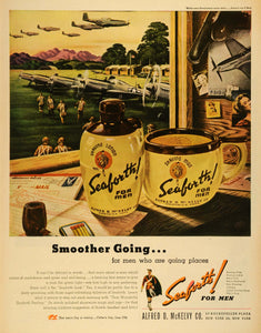 1945 Ad Alfred D. McKelvy Co Seaforth Shaving Lotion WWII Soldiers Aircraft LF4