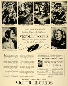 1941 Ad Victor Red Seal Records Player Phonograph Singers Kipnis Crooks LF5