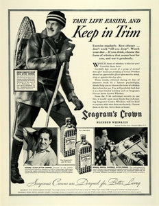 1937 Ad Seagrams Crown Blended Whiskies Pohlmeyer Adirondack Research Group LF5