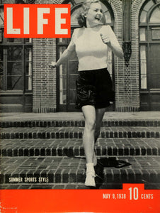 1938 Cover LIFE Summer Sports Fashion Style Model Virginia Judd NY Art LF5