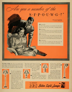 1939 Ad I. E. S. Better Sight Lamps Wedding Gifts Household Items Mackenzie LF5
