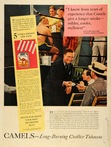 1939 Ad R J Reynolds Tobacco Co Winston-Salem Camel Cigarettes Boxing Game LF5
