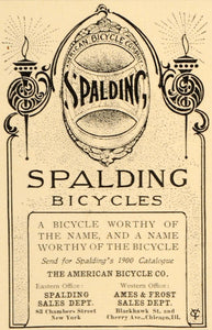 1900 Ad American Bicycle Spalding Cycle Torch Sports - ORIGINAL ADVERTISING LHJ4