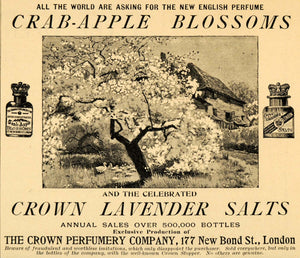 1893 Ad Crown Perfumery Co. Apple Blossom Tree Perfume - ORIGINAL LHJ4