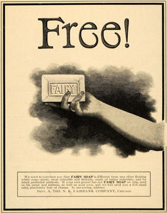 1900 Ad N. K. Fairbank Fairy Soap Cleanser Bar Hand Arm Wash Hygiene LHJ4