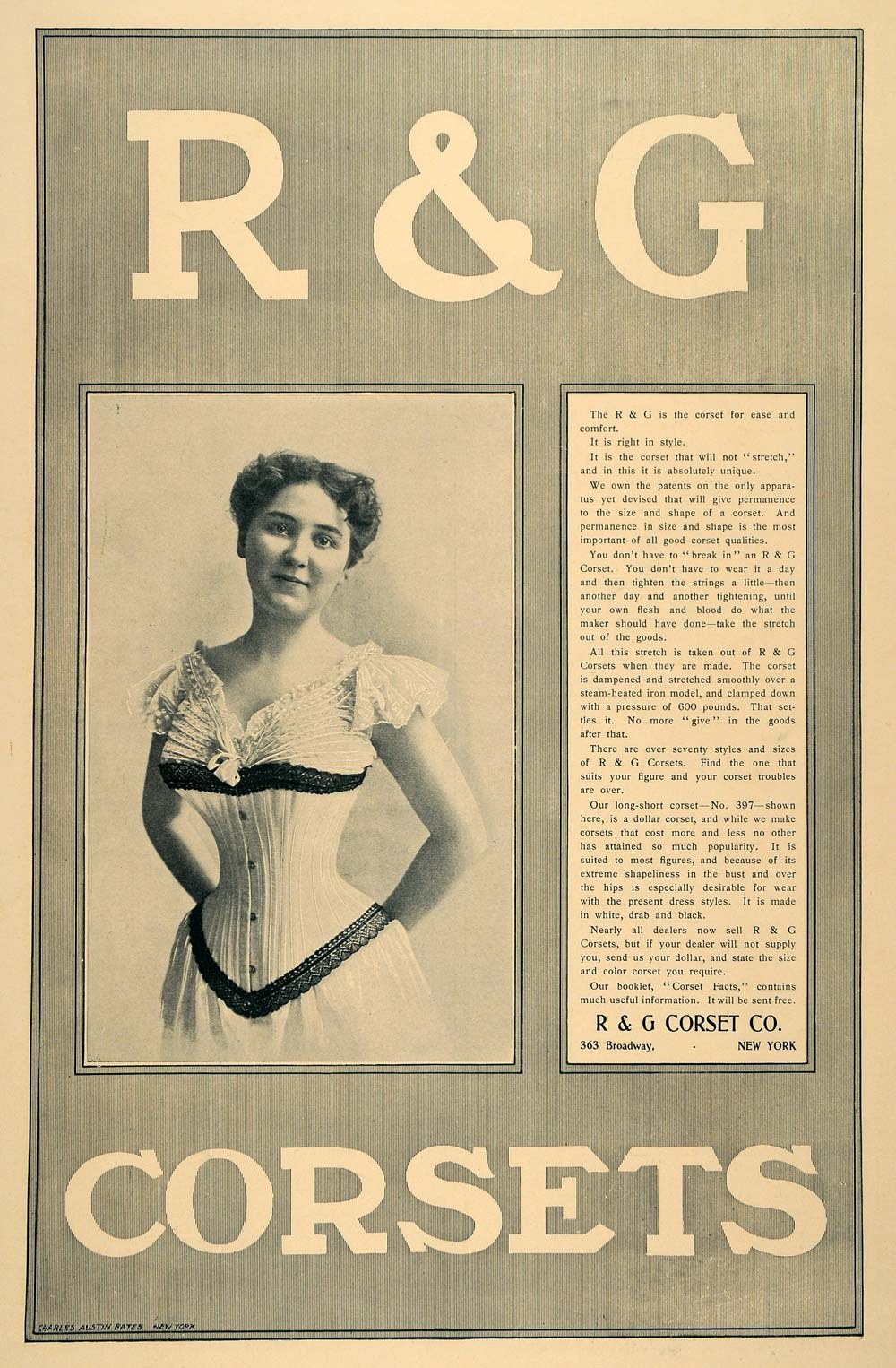 1899 Ad R & G Corsets Victorian Fashion Undergarment Waist Style Figure LHJ5