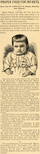 1892 Ad Wells Richardson Co. Lactated Food Infants Nutrition Milk LHJ6