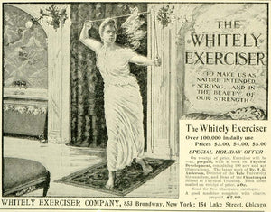 1897 Ad Whitely Exerciser Dr. W G Anderson Yale University Chautauqua LHJ6