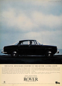 1964 Ad Rover 3-litre Coupe British Automobile Motoring - ORIGINAL LN1