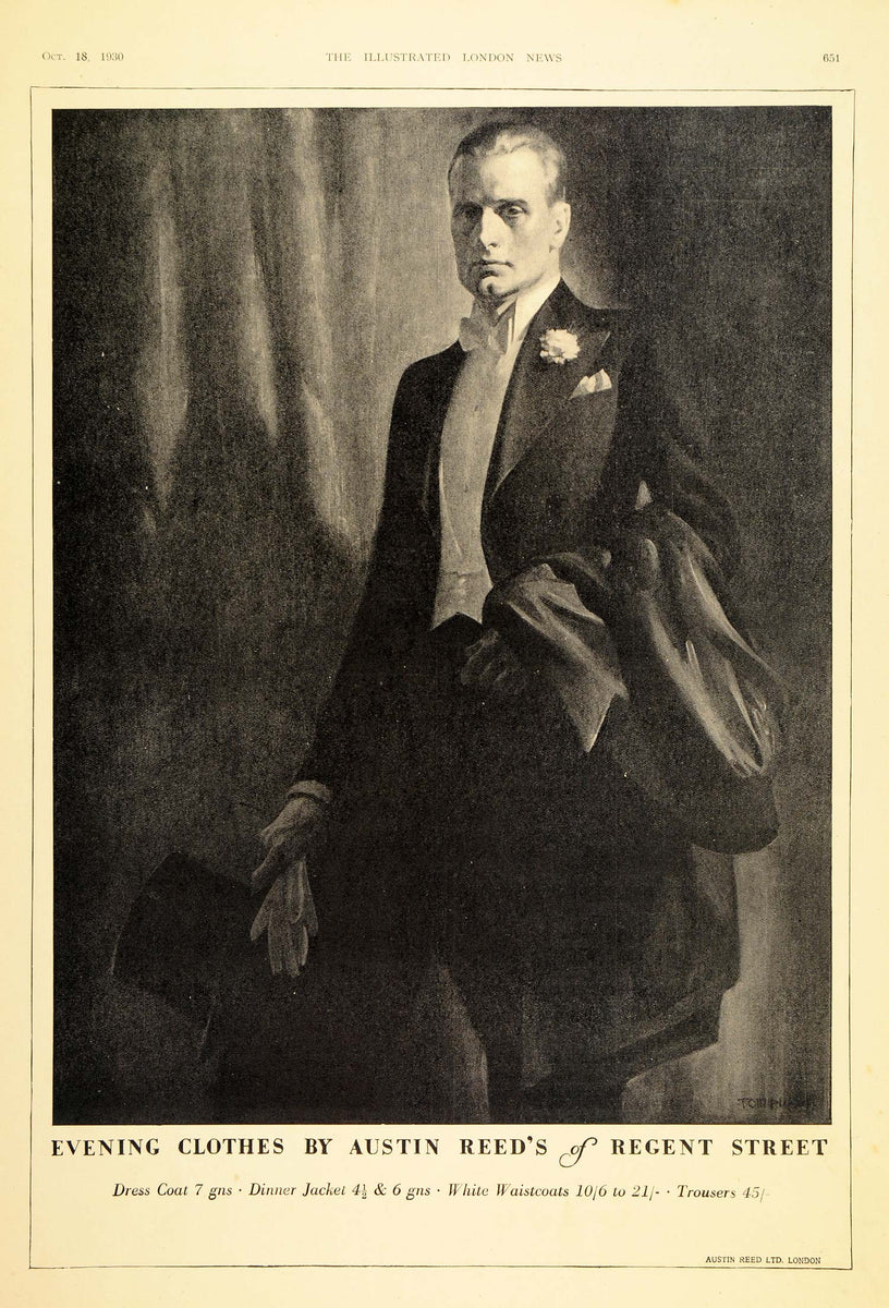 1930 Ad Austin Reed Regent Street Mens Evening Clothes Original Ln1 Period Paper