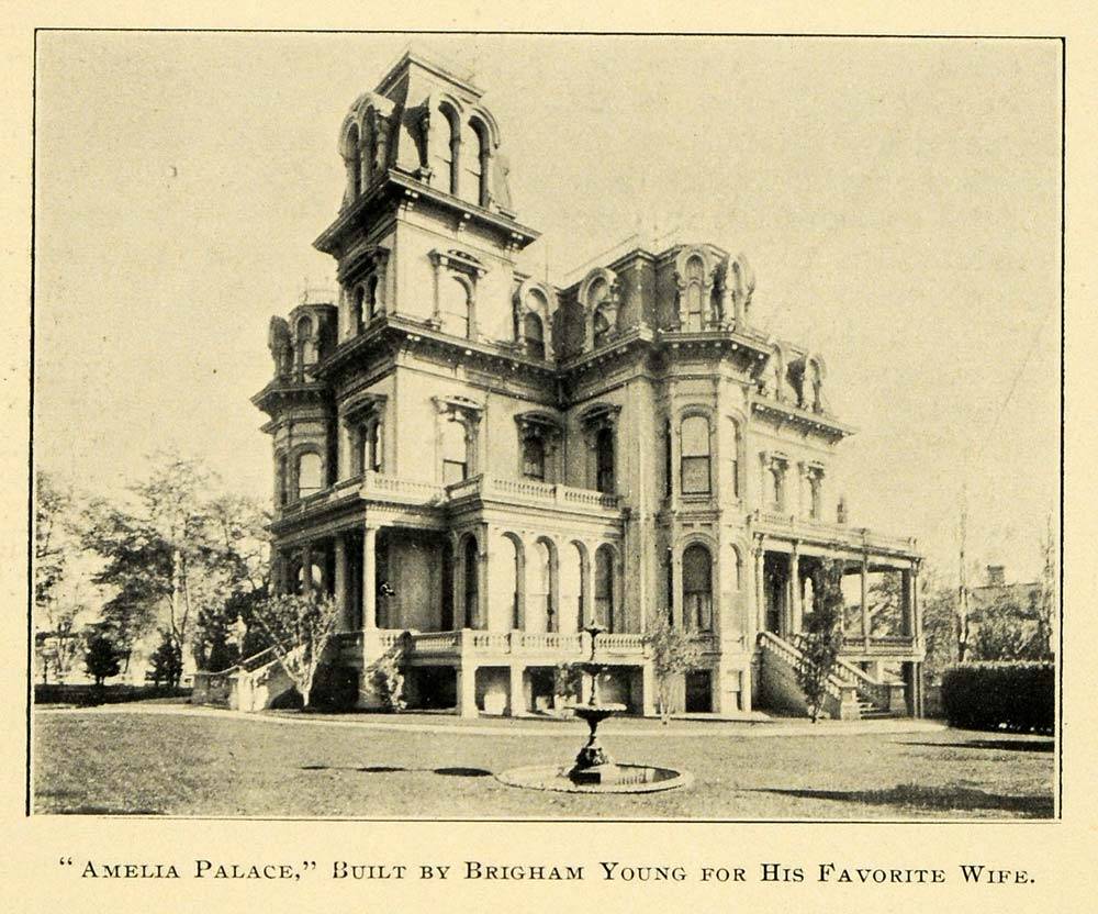 1901 Print Amelia Palace Brigham Young Architecture - ORIGINAL HISTORIC LOS1