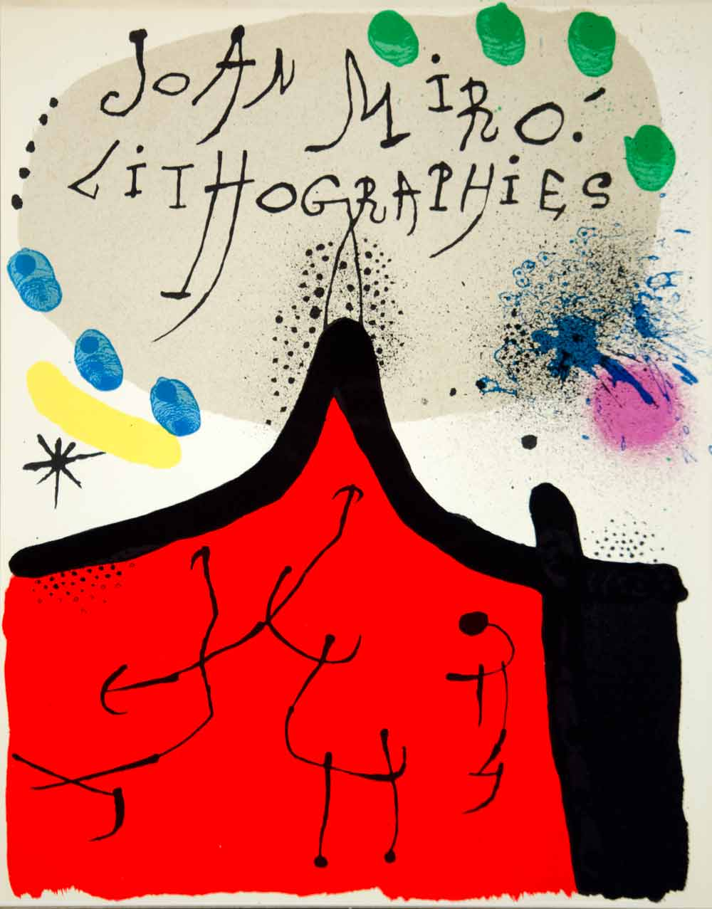 1972 Color Lithograph Joan Miro Lithographies Modern Abstract Artist Spanish
