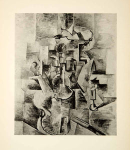 1943 Heliogravure Georges Braque Still Life Abstract Art Modern Cubism French
