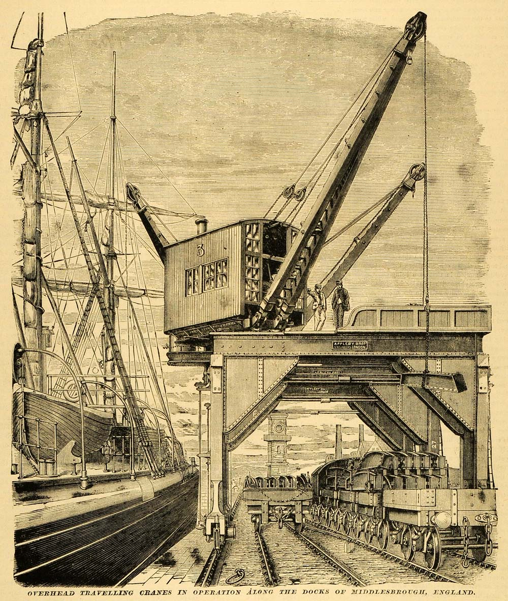 Overhead Crane Training Middlesbrough : Antique vintage art tagged quot mab page period paper