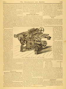 1881 Article MA Charitable Mechanic Association Exhibition Building Floor MAB1