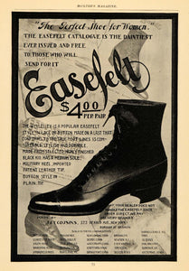 1898 Ad Easefelt Shoe Boot Leather Footwear Clothing - ORIGINAL ADVERTISING MCC1