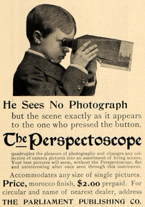1898 Ad Perspectoscope Photograph Parliament Toy Camera - ORIGINAL MCC1