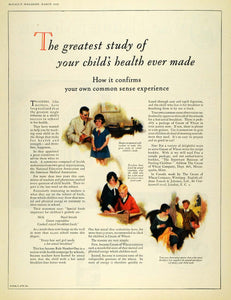 1926 Ad Cream Wheat Child Health Study Fassett Johnson - ORIGINAL MCC4