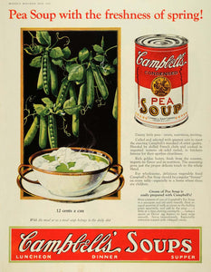 1927 Ad Campell Soup Co. Pea Canned Soup Food Products - ORIGINAL MCC4 - Period Paper