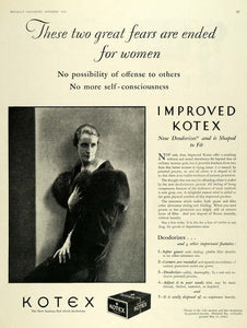 1928 Ad Kotex Co. Sanitary Pads Feminine Care Products - ORIGINAL MCC4