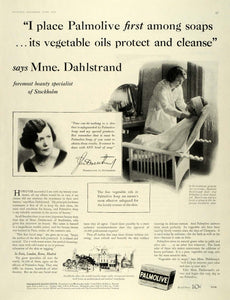1930 Ad Palmolive Vegetable Oil Soap Madame Dahlstrand - ORIGINAL MCC4