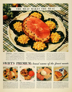 1937 Ad Swift Premium Meats Bacon Lamb Salami Poultry - ORIGINAL MCC4