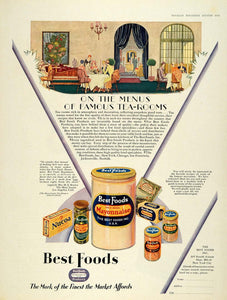 1928 Ad Best Foods Mayonnaise Mary Louise Tea Rooms - ORIGINAL ADVERTISING MCC4
