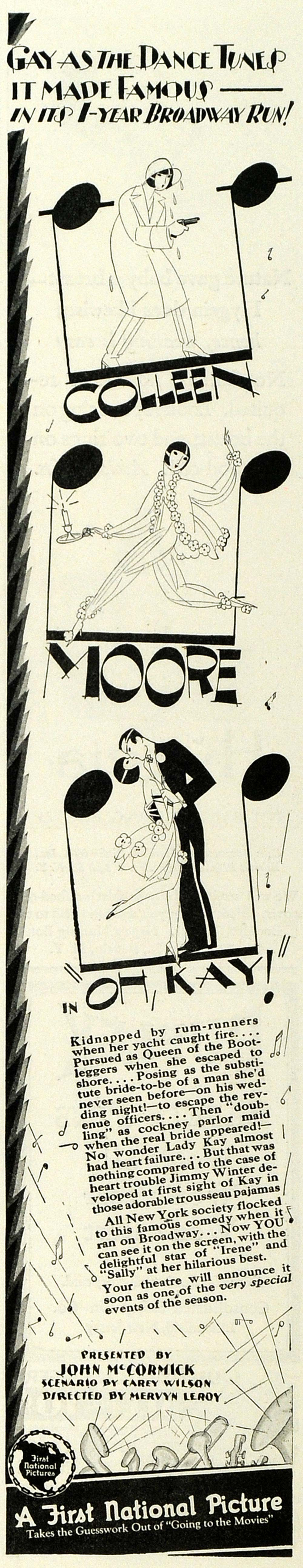 1928 Ad Colleen Moore Oh Kay First National Picture - ORIGINAL ADVERTISING MCC4